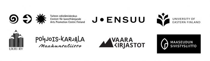 Taiteen edistämiskeskus, Joensuun kaupunki, Itä-Suomen yliopisto, Ukri ry, Pohjois-Karjalan maakuntaliitto, Vaara-kirjastot ja Maaseudun sivistysliitto